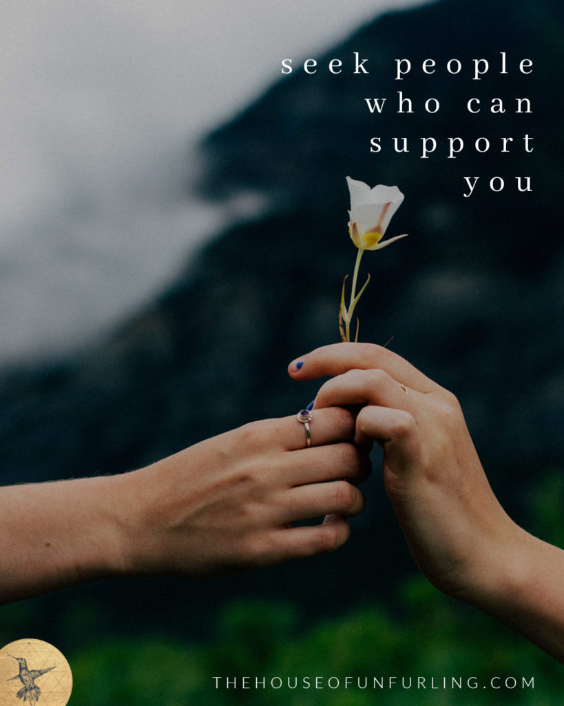 """TIP #02: SEEK PEOPLE WHO CAN SUPPORT YOU - Click to read the Full Article: """"What to do when you're feeling lonely on this path of spiritual awakening"""" - kathleensaelens.com"""