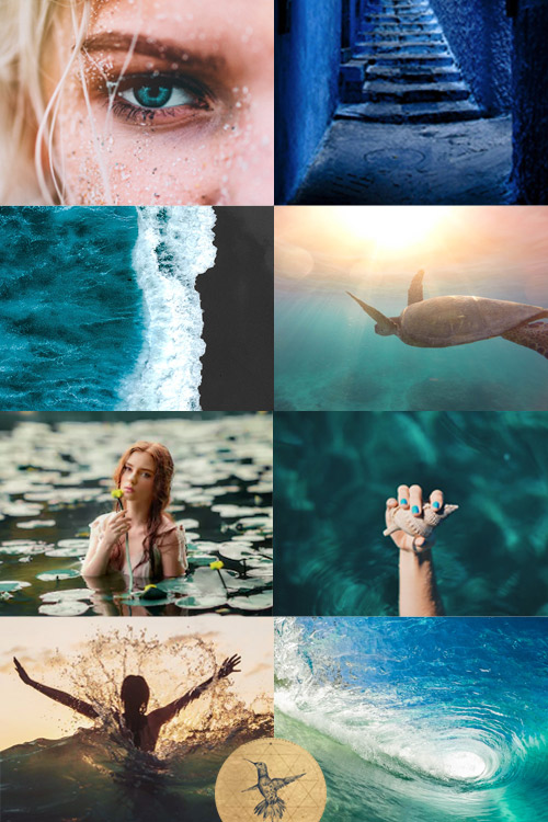Activate your Mermaid energy with this aesthetic! Discover Your Feminine Impact Archetype here: www.kathleensaelens.com/quiz